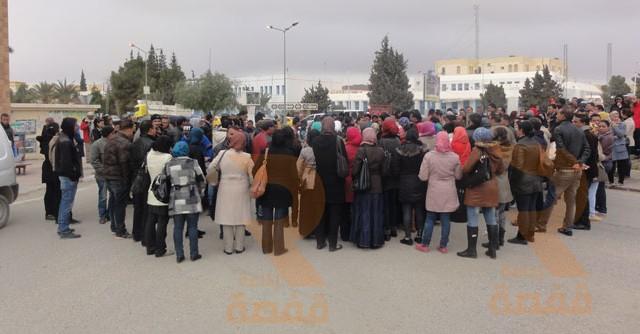 احتجاج المعطّلين عن العمل بقفصة 26-02-2015