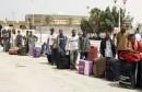 عبور مصريين لمعبر رأس جدير20-02-2015