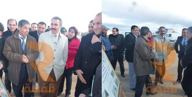 زيارة وزير التجهيز إلى ولاية سيدي بوزيد 06-03-2015