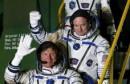 ثلاثة رواد يغادرون محطة الفضاء الدولية في رحلة العودة الى الأرض