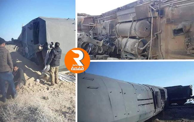 حادث المتلوي قطار شاحنة 16012020