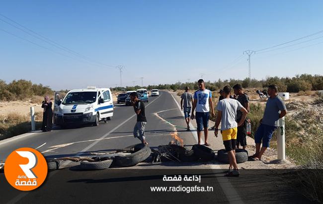 قبلي احتجاج شباب منطقة جمنة 54525222
